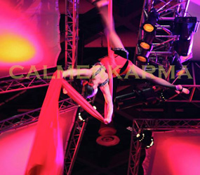 CIRCUS THEMED ENTERTAINMENT & GREATEST SHOW THEMED ACTS - JAW DROPPING AERIAL SILKS ACROBATS TO HIRE