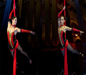 AERIAL SILKS DUO PERFORMERS TO HIRE UK