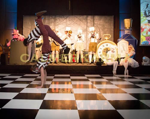 ALICE IN WONDERLAND STAGED SHOW- ACROBATIC TWEEDLES -LONDON & UK