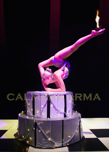 ALICE IN WONDERLAND THEMED ENTERTAINMENT - ALICE CONTORTION AND CAKE ACT UK