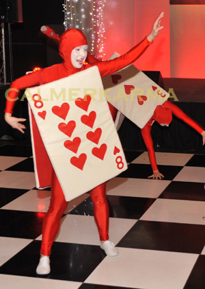 ALICE IN WONDERLAND THEMED ENTERTAINMENT - RED CARDS