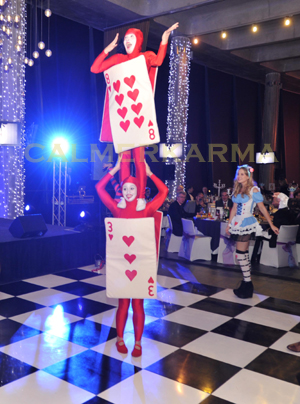 ALICE IN WONDERLAND THEMED ENTERTAINMENT - ACROBATIC CARDS ACT