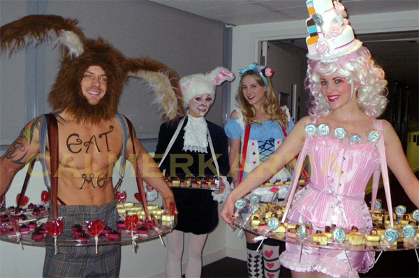 ALICE IN WONDERLAND THEMED LIVING CANAPE ACTS