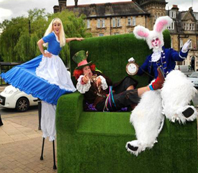 ALICE IN WONDERLAND THEMED STILT WALKERS TO HIRE