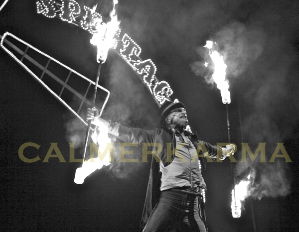 CIRCUS THEMED ENTERTAINMENT - DRAMATIC STAGED FIRE ACT