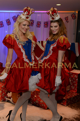 BEST OF BRITISH THEMED ACTS TO HIRE - THE ROYAL USHERETTE HOSTESSES MANCHESTER AND LONDON