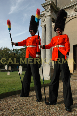 BEST OF BRITISH THEMED ENTERTAINMENT -ROYAL THEMES - GUARD STILTS UK