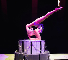BIRTHDAY CAKE CONTORTION ACT TO HIRE UK