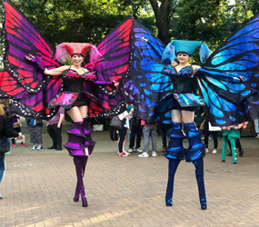 festival electric butterfly stilts
