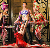 CANDY THEMED ENTERTAINMENT -WALKABOUT CANDY TABLES AND GORGEOUS CANDY GIRLS TO HIRE