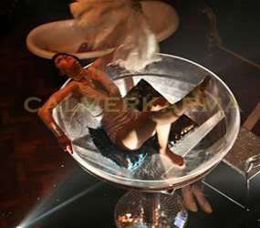 CHAMPAGNE GLASS PROP & BURLESQUE DANCERS TO HIRE