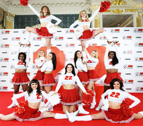 CHEERLEADERS - CREATE EXCITEMENT WITH CUSTOMED CHANTS & ACROBATIC MOVES