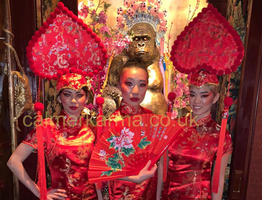 CHINESE HOSTESSES - DRINKS & CANAPE THEMED HOSTESSES HIRE LONDON
