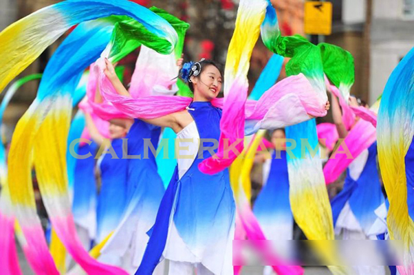 chinese -entertainers to hire - chinese ribbon dance troupe for parades or staged entertainment