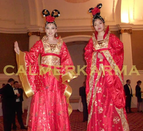 CHINESET THEMED ENTERTAINMENT - CHINESE STILT DUO ACT - LONDON BRISTOL MANCHESTER