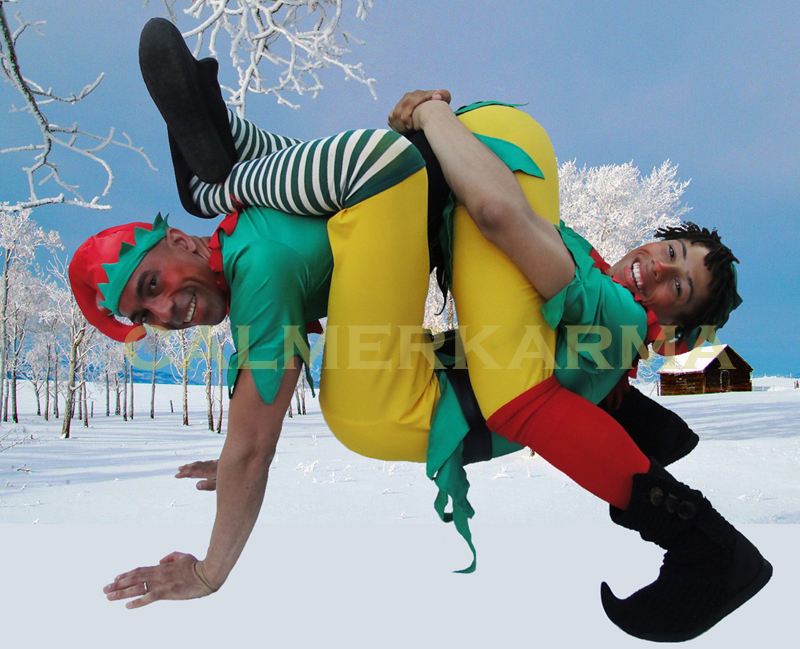 CHRISTMAS ELVES TO HIRE - NAUGHTY ACROBATIC ELVES LONDON