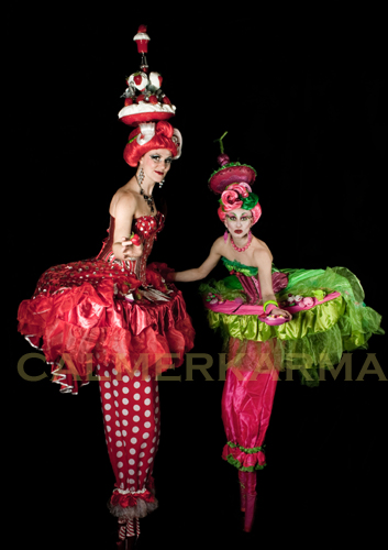CIRCUS THEMED STILTS TO HIRE LONDON MANCHESTER BIRMINGHAM