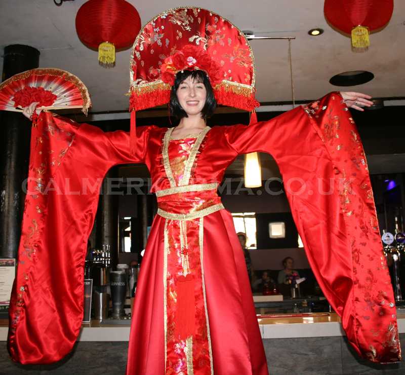 CHINESE NEW YEAR THEMED ENTERTAINMENT - CHINESE THEMED STILT WALKERS -CHINESE PRINCESS