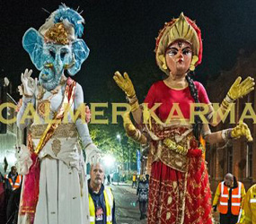 DIWALI ENTERTAINMENT TO HIRE - LED STILT DANCERS TO GANESH STILTS UK