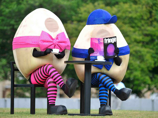 comical walkabout Easter Eggs act to hire UK