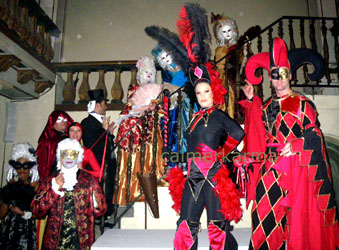 VENETIAN Masquerade Themed Entertainment from Calmer Karma Venetian Masked Ball event in Cannes