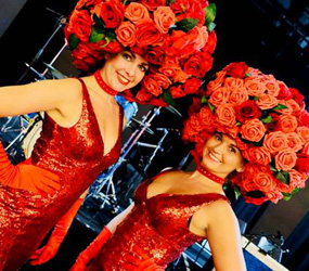 THEMED HOSTESSSE TO HIRE - FLOWER SHOWGIRLS & HOSTESSES LONDON MANCHESTER UK