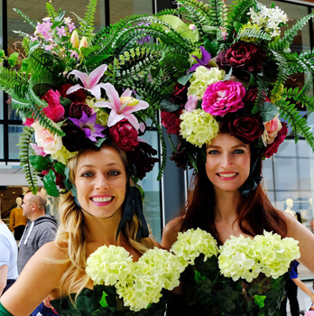 FLOWER AND SUMMER GARDEN THEMED ENTERTAINMENT TO HIRE LONDON AND UK - THE BOURBON ROSES