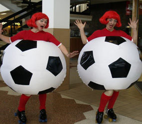 FOOTBALL-THEME- FOOTBALLS ON ROLLER SKATES ACT HIRE