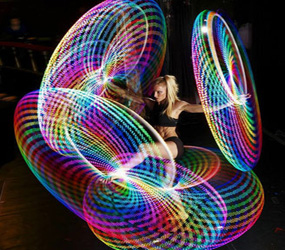 FUTURISTIC LED HOOP SHOW - SCI-FI THEMED SHOWS
