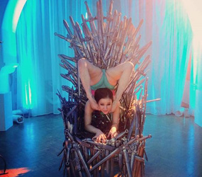 game of thrones themed contortionist