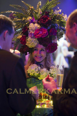 GARDEN-THEMED-CANAPE-HOSTESS-THE BOURBON ROSES ACT TO HIRE