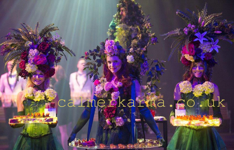 MIDSUMMER NIGHTS DREAM THEMED ENTERTAINMENT -GARDEN GODDESSES FLORAL HOSTESSES ACT