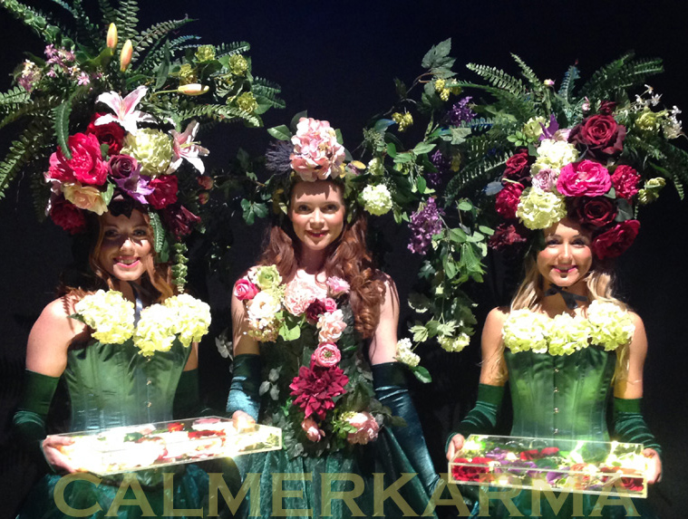 GARDEN THEMED ENTERTAINMENT - GARDEN CANAPE GODDESSES ACT -LIVING FLORAL ACT