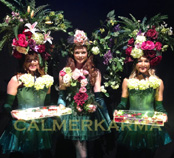 ENGLISH COUNTRY GARDEN THEMED ENTERTAINMENT - FLORAL HOSTESSES THE BOURBON ROSES TO HIRE UK
