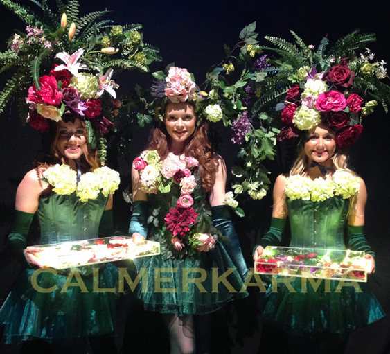 GARDEN THEMED ENTERTAINMENT- THE FLORAL DIVAS- GARDEN CANAPE GODESSESS