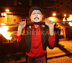 halloween themed entertainment - fire acts to hire uk