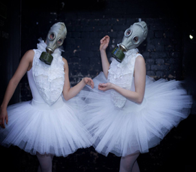 HALLOWEEN GAS MASK BALLERINAS CLUBS FESTIVALS