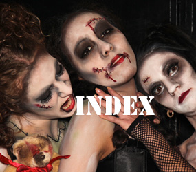 HALLOWEEN THEMED PARTY ENTERTAINMENT TO HIRE - INDEX