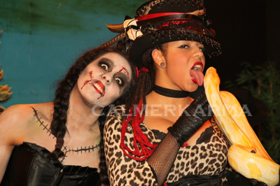HALLOWEEN THEMED ACTS - LADY VIPER + ZOMBIE