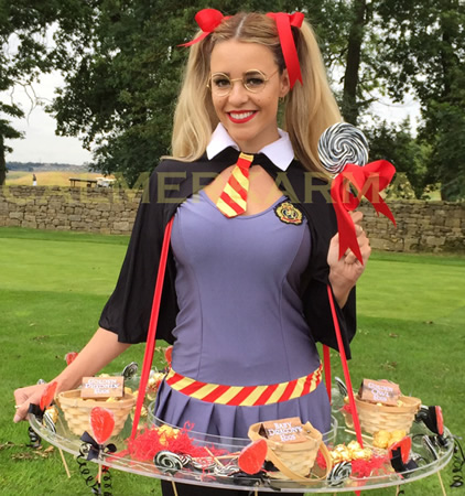 HARRY POTTER THEMED ENTERTAINMENT - WIZARDING SCHOOLGIRL CANDY HOSTESS