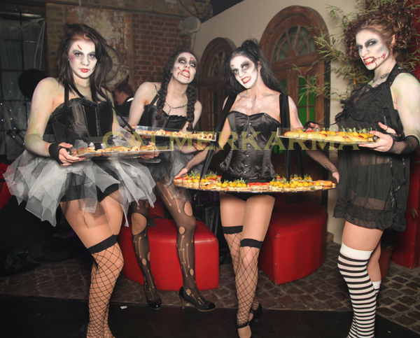 HALLOWEEN THEMED ACTS- ZOMBIE DOLLS -LIVE CANAPE HOSTESSES & THRILLER