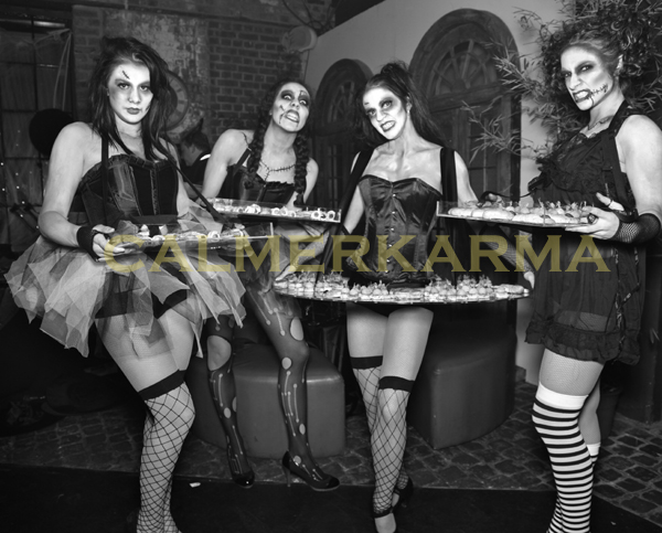 HALLOWEEN THEMED ENTERTAINMENT - ZOMBIE DOLLS LIVING CANAPE HOSTESSES