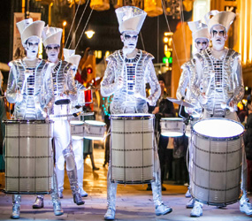WINTER WONDERLAND ACTS - LED DRUMMING TROUPE TO HIRE UK