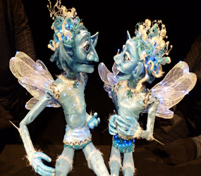 MAGICAL ICE FAERIES WALKABOUT PUPPET ACT - WINTER WONDERLAND MAGICAL ACT CHILDREN AND ADULTS ALIKE