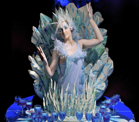WINTER WONDERLAND & NARNIA PARTIES - ICE QUEEN LIVING DRINKS TABLE ACT TO HIRE UK