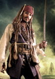 PIRATES THEME-JACK SPARROW LOOKALIKE