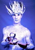 winter wonderland themed entertainment - jack frost crystal ball juggler