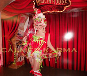 PARISIAN CANCAN - ROUGE CANDY GIRL -KISS MY LOLLIPOP LONDON HIRE