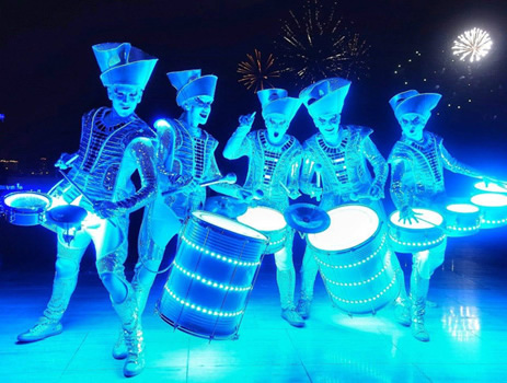 LED DRUMMING TROUPE PERFECT FOR WINTER WONDERLAND & XMAS PARTIES