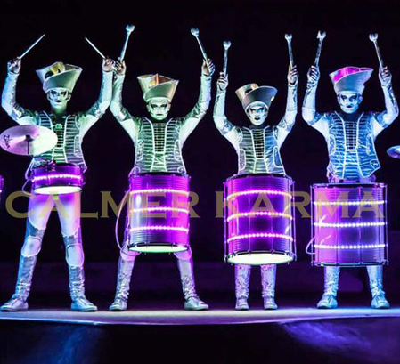 WINTER WONDERLAND THEMED ACTS TO HIRE - DRAMATIC LED DRUMMING TROUPE -MANCHESTER, LONDON, EUROPE